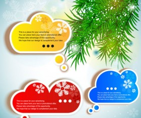 Creative Speech Circle and cloud vector set 02