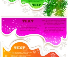 Creative Speech Circle and cloud vector set 04