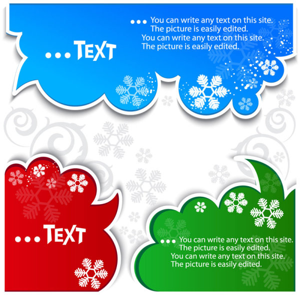 Creative Speech Circle and cloud vector set 05