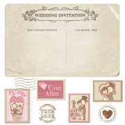 Link toElements of wedding seal and stamp vector 02