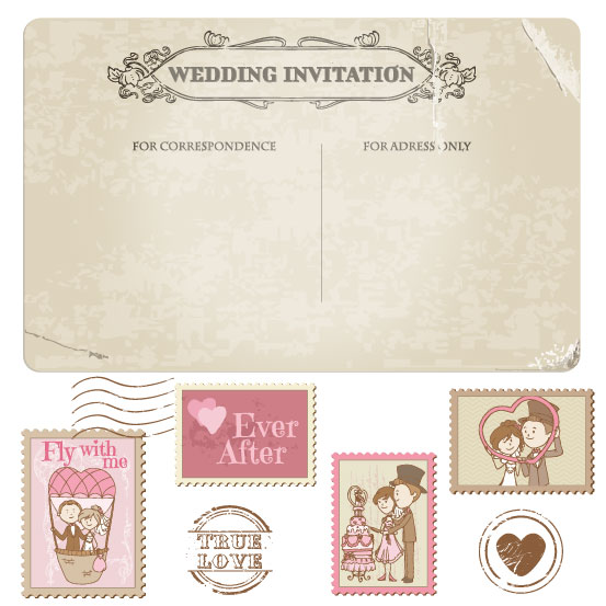 Free eps file elements of wedding seal and st vector 02 download