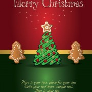 Link toCute christmas creative greeting cards vector 01