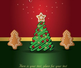Cute Christmas creative Greeting Cards vector 01