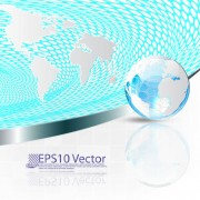 Link toConcept map elements vector background art 04