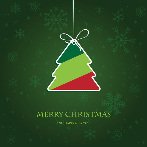 Cute Christmas Creative Greeting Cards Vector 02