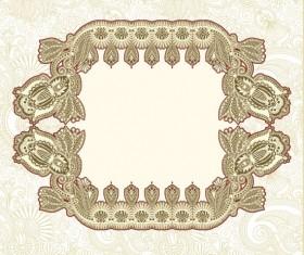 Retro lace Decoration Frames vector 01