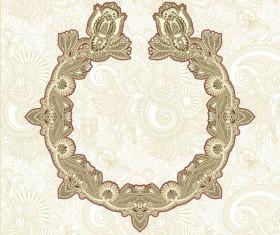 Retro lace Decoration Frames vector 03