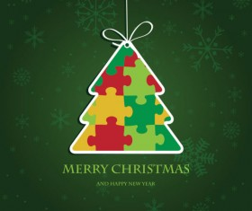 Cute Christmas creative Greeting Cards vector 03