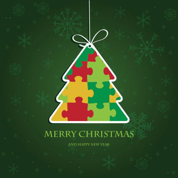 Cute Christmas Creative Greeting Cards Vector 03
