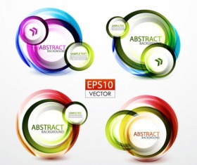 Abstract Circle concept background vector 04