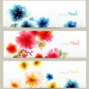 Link toShiny flower banner vector 01