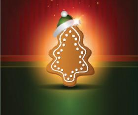 Cute Christmas creative Greeting Cards vector 04