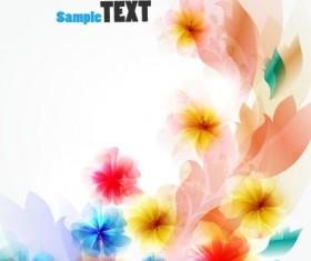 Shiny flower background vector 02