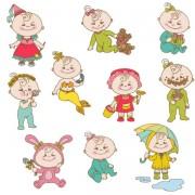 Link toElements of cute cartoon baby vector set 02