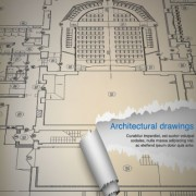 Architectural drawings design elements vector 01