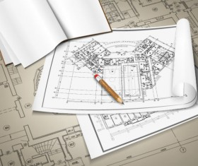 architectural drawings design elements vector 02
