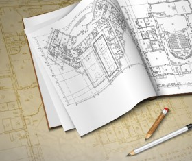 architectural drawings design elements vector 03