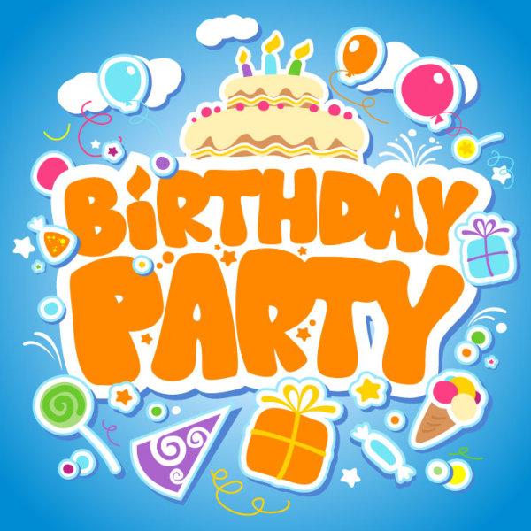 Funny Cartoon Happy Birthday Cards Vector 04 Free Download