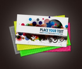 Stylish Advertising cards design vector 05