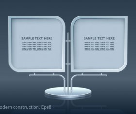 Set of modern construction Signboard vector 02