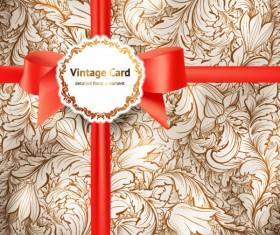 Vintage lace background vector 02