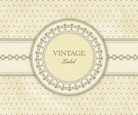 Vintage lace background vector 03