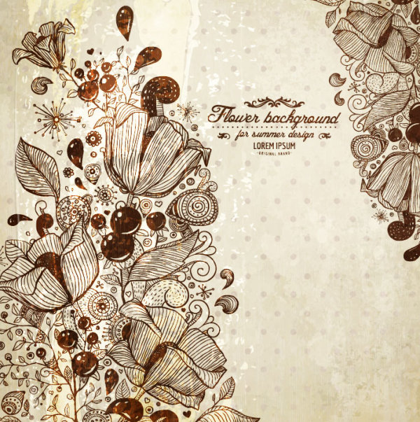 Vintage lace background vector 05