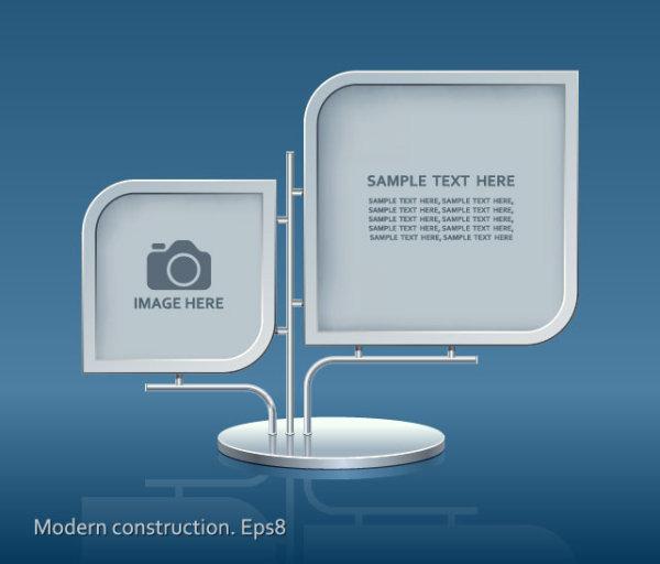 Set Of Modern Construction Signboard Vector 03 Over