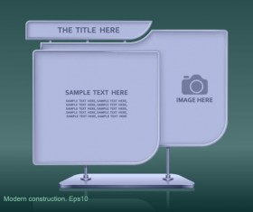 Set of modern construction Signboard vector 05