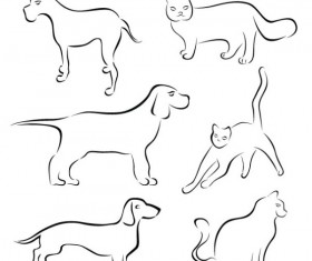 Various Hand drawn Animal vector
