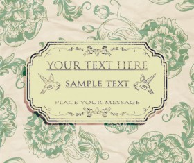 ornate Retro Floral background vector 01