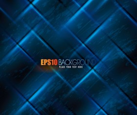 Abstract blue grid background  vector 02