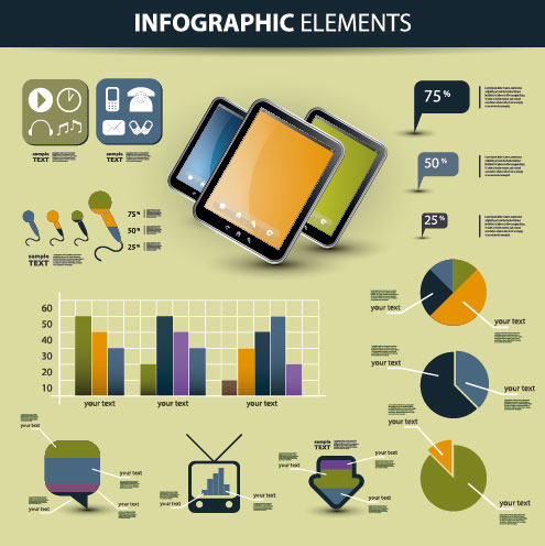 business scheme and Infographics elements vector 01