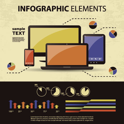 business scheme and Infographics elements vector 04