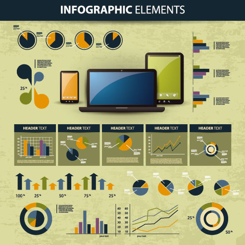 business scheme and Infographics elements vector 03