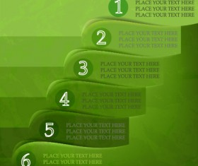 Set of number Modern banner vector 02