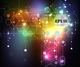 Abstract Shiny elements vector background art 01