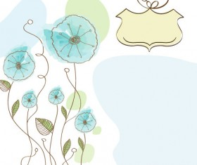 Hand drawn cute Flowers vector 03