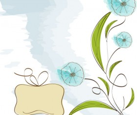 Hand drawn cute Flowers vector 04