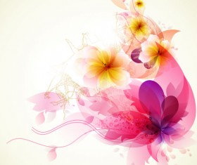 Shiny Colorful flower background vector 01