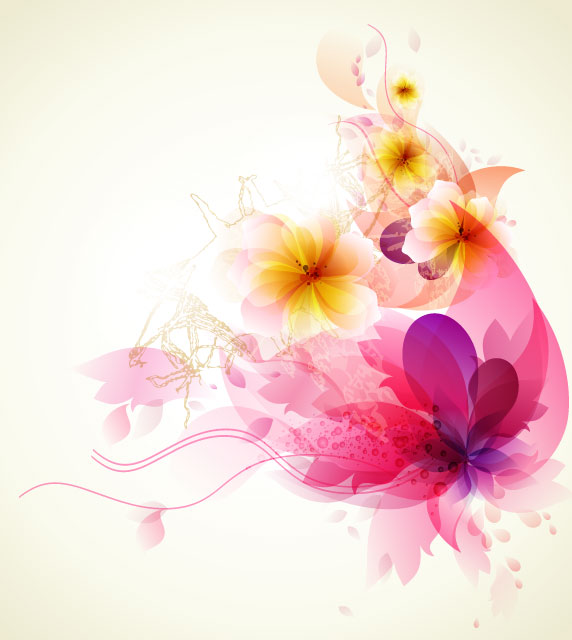Free Colorful Flower Wallpaper Downloads: Shiny Colorful Flower Background Vector 01 Free Download