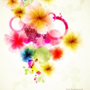 Link toShiny colorful flower background vector 02