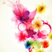 Link toShiny colorful flower background vector 04