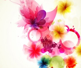 Shiny Colorful flower background vector 04