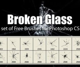 Broken Glass brushes fot Photoshop