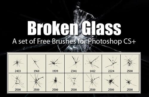 Broken Glass brushes fot Photoshop