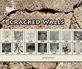 Cracked walls brushes fot Photoshop