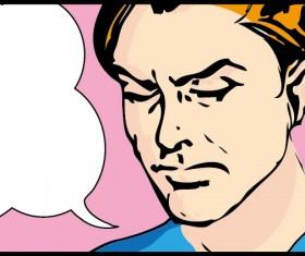 Cartoon People dialogue Illustration vector set 05