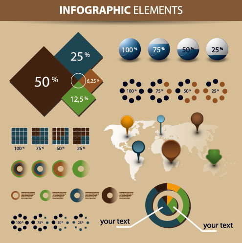 Year infographics elements vector 02