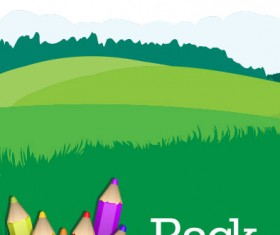 colorful paintbrush template vector 01